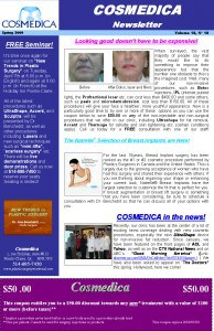 Cosmedica Newsletter Spring 2009